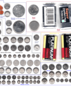 Assorted sizes of button and coin cells including alkaline silver oxide chemistries four rectangular  batteries are also shown for size comparison list battery wikipedia rh enpedia