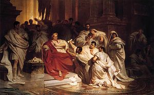 Caesar's Death. Attention: Image is laterally ...