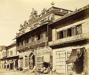 English: Chandni Chowk, Delhi, 1858.