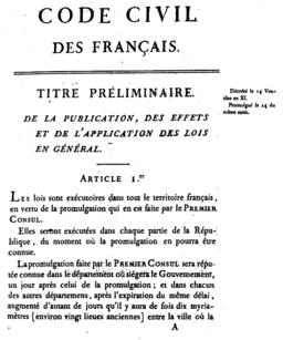 Code Civil 1804