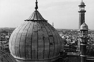 The dome of the Jama Masjid.