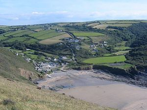 Crackington Haven, Cornwall. Taken from the cl...