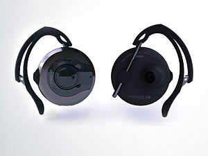 A stereo Bluetooth headset.