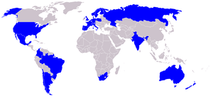 Map of World presence of Endemol.