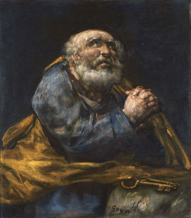 Francisco José de Goya - The Repentant St. Peter - Google Art Project