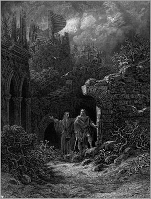 Gustave Doré's illustration of Arthur and Merl...