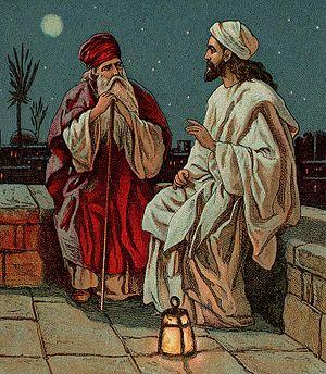 English: Jesus and Nicodemus