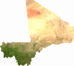 Satellite image of Mali