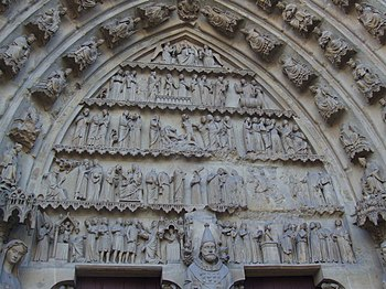 English: Cathedral Notre-Dame de Reims, France...