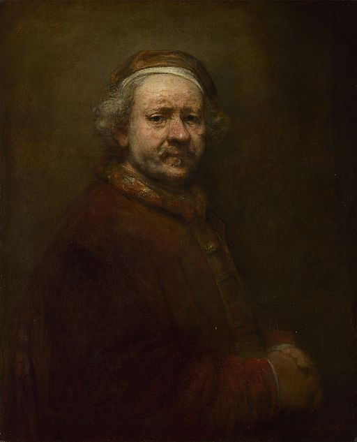"""Self Portrait at the Age of 63"" by Rembrandt"