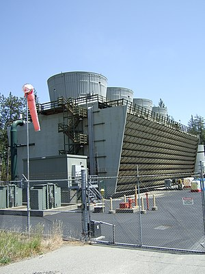 The cooling tower for the West Ford Flat power...