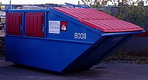 Rear load dumpster. Picture taken at RenoFlex,...