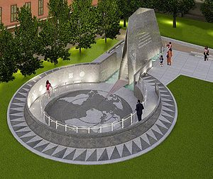 Artist's impression of the African Burial Grou...