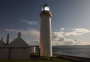 English: Cantick Head Lighthouse by night Take...