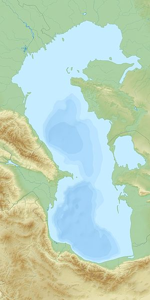 English: Relief Location map of Caspian_Sea. P...