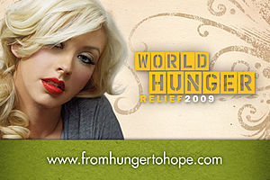 English: Christina Aguilera Helps the Cause to...