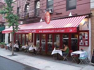 English: Cornelia street cafe, Greenwich Villa...