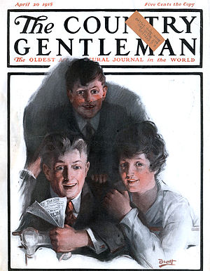 English: Cover of The Country Gentleman magazi...