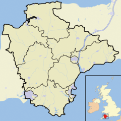Chudleigh is located in Devon