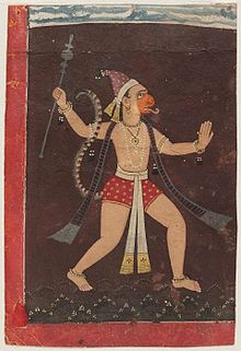 Hanuman painted by Pahari Painter.jpg