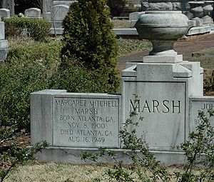 Mitchell's grave in Oakland Cemetery in Atlanta