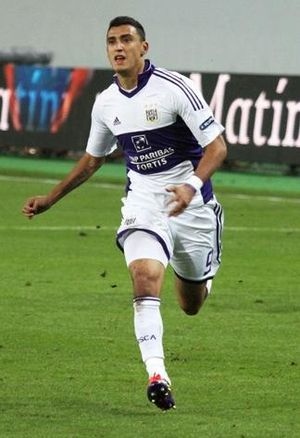 English: Matías Suárez with R.S.C. Anderlecht.
