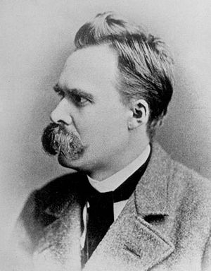German philosopher Friedrich Nietzsche posing ...