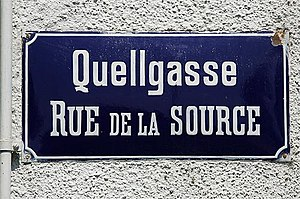 Bilingual street signs