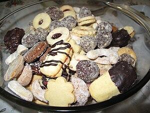 Česky: Různé druhy cukroví