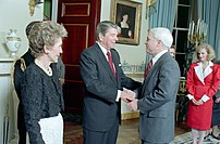 President Ronald Reagan and Mrs. Nancy Reagan ...
