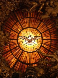File:Rom, Vatikan, Basilika St. Peter, Die Taube des ...