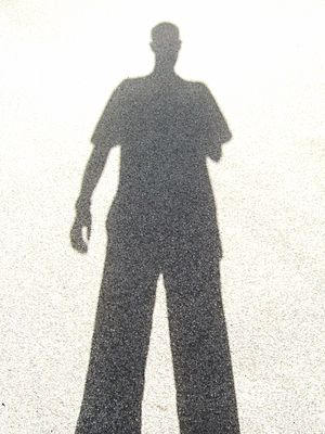 My shadow. I have two arms, of course, but obv...