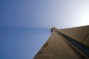 Tyndall effect at CN Tower, Toronto, Ontario, ...