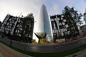 Español: Torre Iberdrola bilbao con gran angular