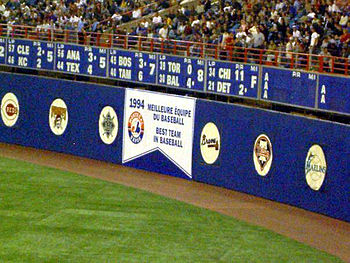 The Banner put up at the last MLB game in Montreal