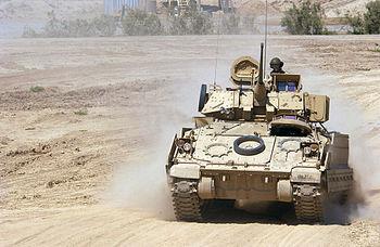 English: An M2A2 Bradley Fighting Vehicle crew...