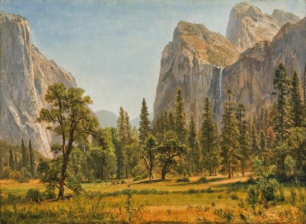 File Albert Bierstadt - Bridal Veil Falls Yosemite Valley California Google Art