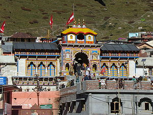 English: Temple at Badrinath, Uttarkhand, Indi...
