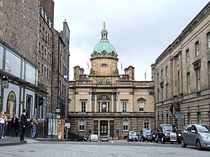 English: Bank of Scotland HQ, Edinburgh Lookin...