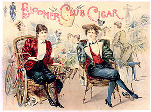 1890s caricature of athletic bloomers