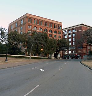 English: Dallas, Dealey Plaza, former Texas Sc...