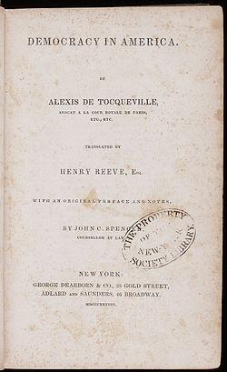 Alexis De Tocqueville De La Démocratie En Amérique : alexis, tocqueville, démocratie, amérique, Démocratie, Amérique, Wikipédia
