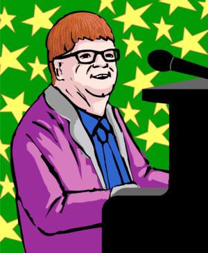 Elton john illustation artlibre jnl