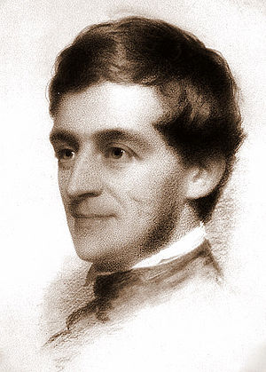 Charcoal portrait of Ralph Waldo Emerson by ar...