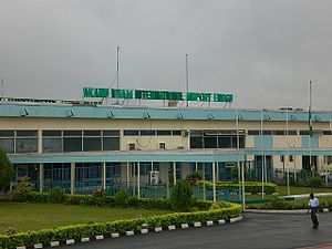English: Enugu Airport Terminal (Airside) Deut...