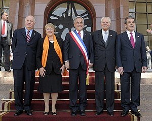 All five Chilean presidents since 1990.