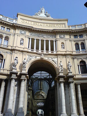 English: Entrance Galleria Umberto I Deutsch: ...