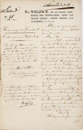 De grondwet van 1848