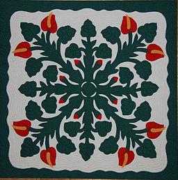 Hawaiian Applique Quilt 2