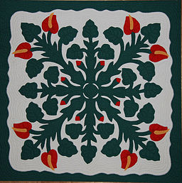 Hawaiian Applique Quilt 2